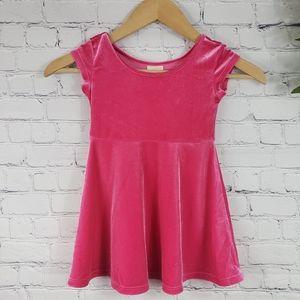 WONDERKIDS Crushed Velvet Dress Pink Size 3t